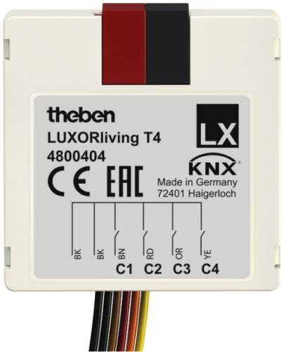 LUXORLiving T4 Push Button Interface